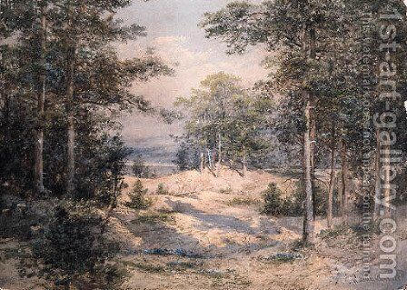 Forest Glade in Sunlight by Ivan Shishkin - Reproduction Oil Painting