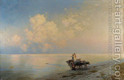 Tranquil Seas - the Swimmers by Ivan Konstanstinovich Aivazovskii - Reproduction Oil Painting
