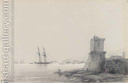 Harbour scene by Ivan Konstantinovich Aivazovsky - Reproduction Oil Painting