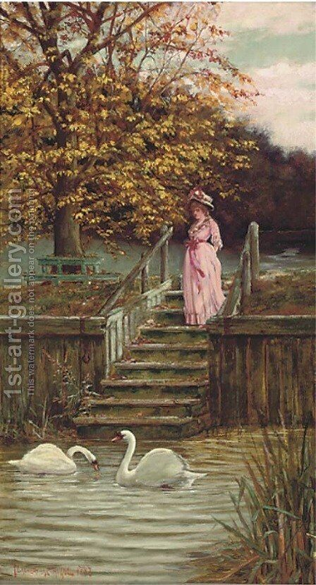 A quiet moment by J. Edward Homerville Hague - Reproduction Oil Painting