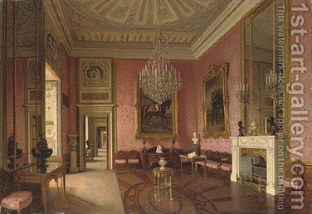 The Alexander Hall, The Winter Palace, St. Petersburg by J. Jaunbersin - Reproduction Oil Painting