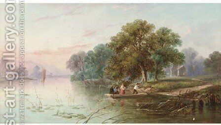 The ferry by J. Mundell - Reproduction Oil Painting