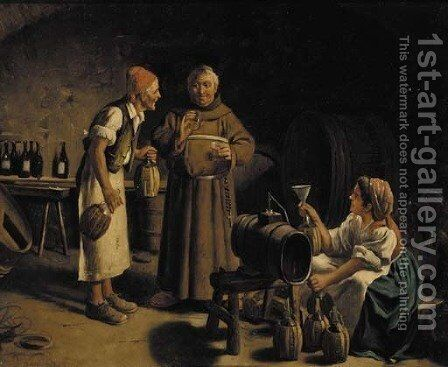 The wine taster by Jan de Beer - Reproduction Oil Painting