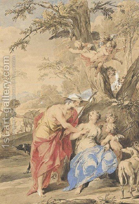 Jupiter and Mnemosyne by Jacob de Wit - Reproduction Oil Painting