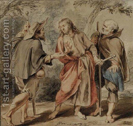 The Road to Emmaus by Jacob de Wit - Reproduction Oil Painting