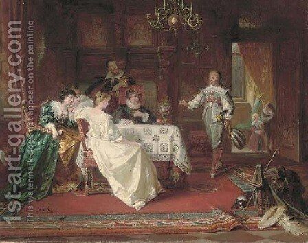 The musician's introduction by Jacob Emmanuel Gaisser - Reproduction Oil Painting