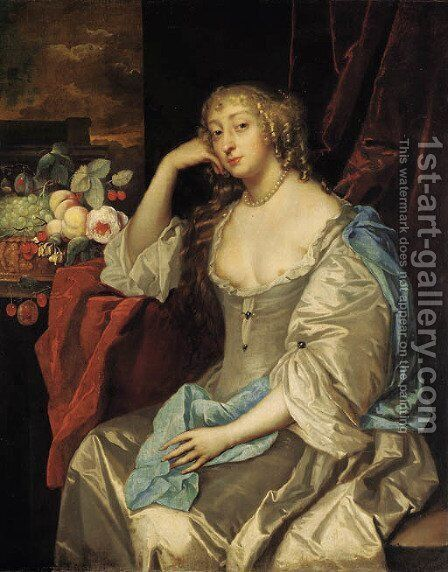 Portrait of a lady by Jacob Huysmans - Reproduction Oil Painting