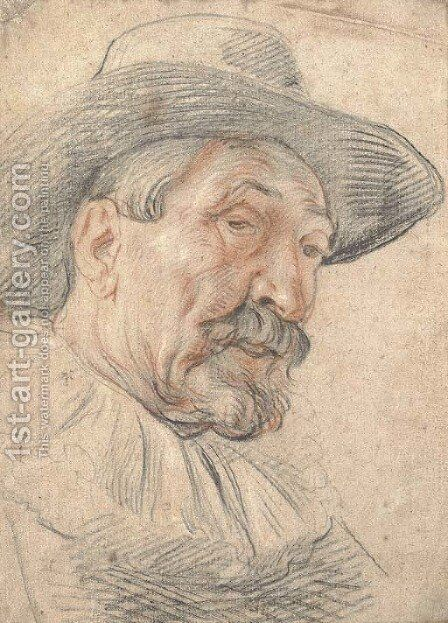 A bearded man by Jacob Jordaens - Reproduction Oil Painting