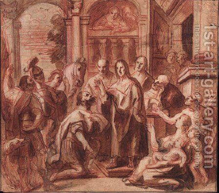 Christ and the Headman of Capernaum by Jacob Jordaens - Reproduction Oil Painting