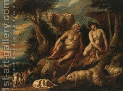 Mercury and Argus by Jacob Jordaens - Reproduction Oil Painting
