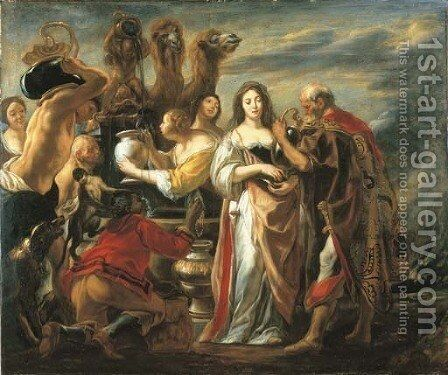 Rebecca at the Well by Jacob Jordaens - Reproduction Oil Painting