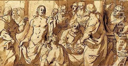 The Incredulity of Saint Thomas by Jacob Jordaens - Reproduction Oil Painting