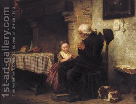 A moment of silence by Jacob Henricus Maris - Reproduction Oil Painting