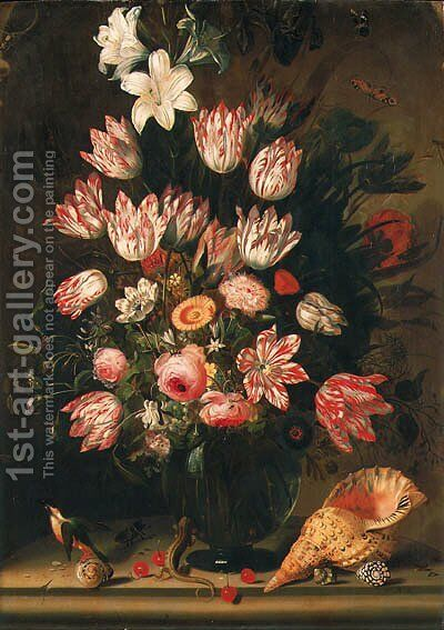 Flowers by Jacob Marrel - Reproduction Oil Painting