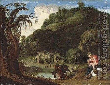 The Rest on the Flight into Egypt by Jacob Pynas - Reproduction Oil Painting
