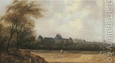 A view of Rijswijk castle by Anthony Jansz van der Croos - Reproduction Oil Painting