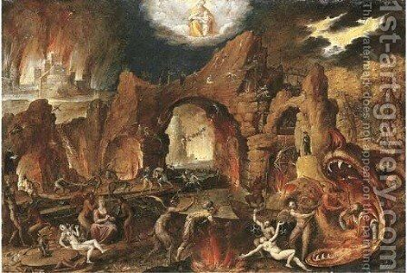 Hell by Jakob Isaaksz Swanenburgh - Reproduction Oil Painting