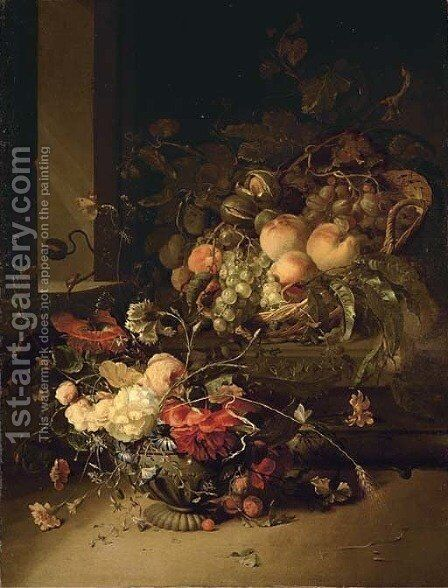 Peaches by Jacob van Walscapelle - Reproduction Oil Painting