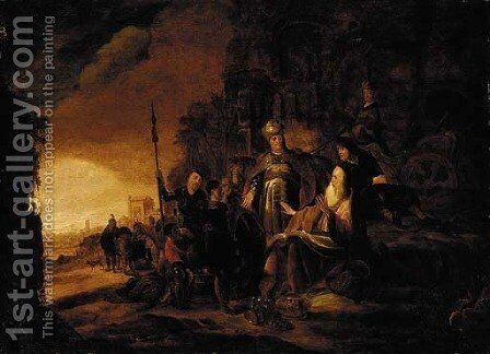 Joseph's brothers presenting his coat to Jacob by Jacob Willemsz de Wet the Elder - Reproduction Oil Painting