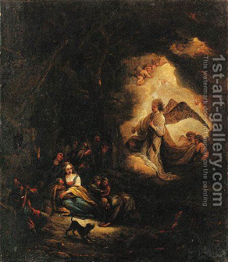 The Annunciation to the Shepherds by Jacob Willemsz de Wet the Elder - Reproduction Oil Painting