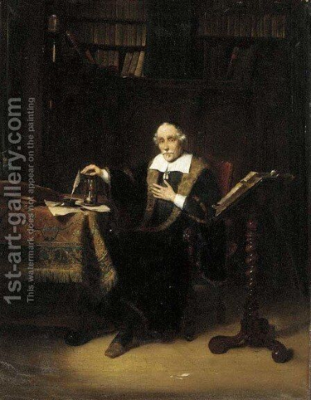 The scholar by Jacobus Ludovicus Cornet - Reproduction Oil Painting