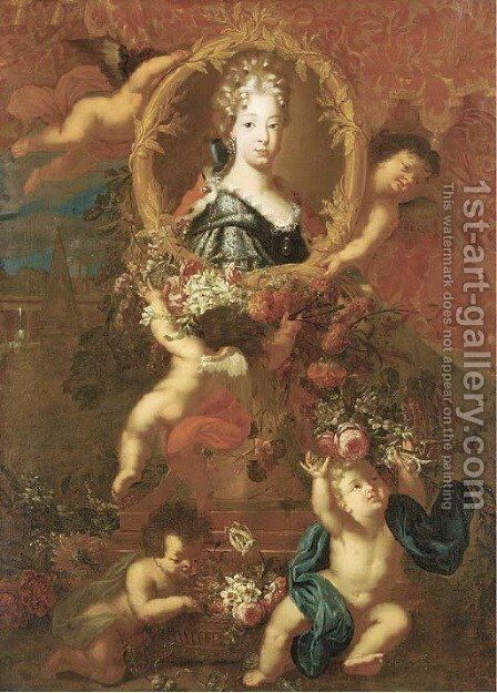 Portrait of Maria Luisa of Savoy by Jacobus Melchior van Herck - Reproduction Oil Painting