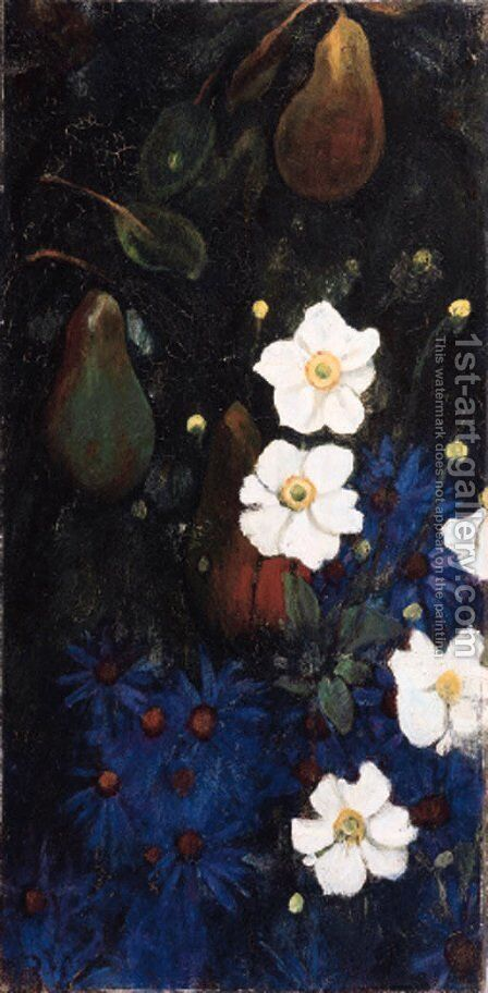 Asters by Jacobus Van Looy - Reproduction Oil Painting
