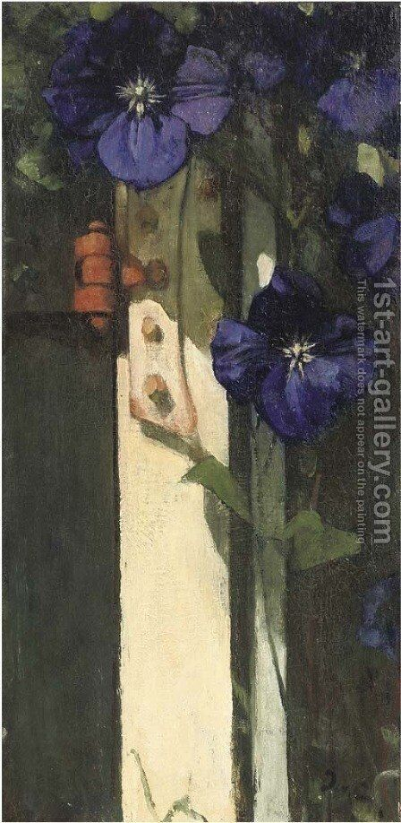 Clematis by Jacobus Van Looy - Reproduction Oil Painting