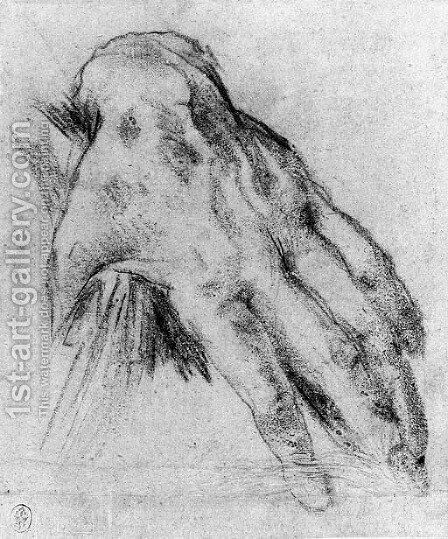 A Left Hand by Jacopo Cavedone - Reproduction Oil Painting