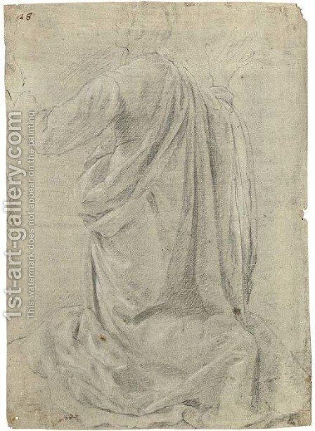 A kneeling figure seen from behind, his arms raised by (Jacopo Chimenti) Empoli - Reproduction Oil Painting