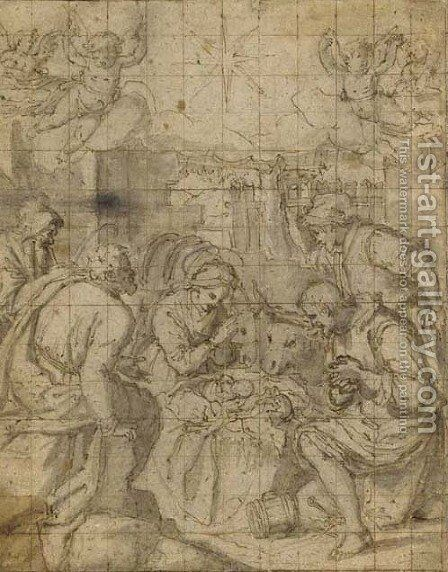 The Adoration of the Shepherds by (Jacopo Chimenti) Empoli - Reproduction Oil Painting