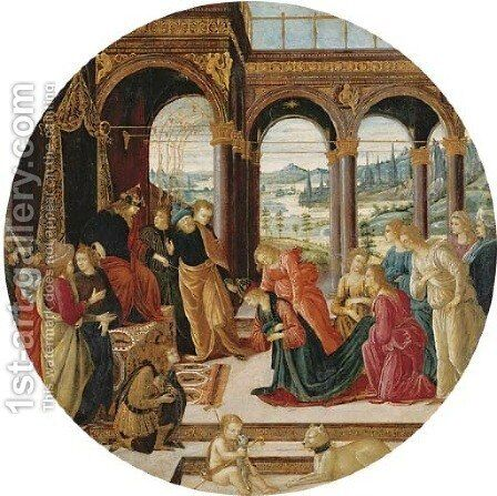 Esther before Ahasuerus 3 by Jacopo Del Sellaio - Reproduction Oil Painting