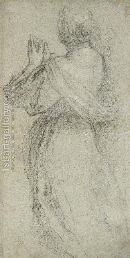 A praying woman, seen from behind by Jacopo d'Antonio Negretti (see Palma Giovane) - Reproduction Oil Painting