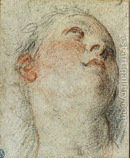 The Head of a Woman by Jacopo d'Antonio Negretti (see Palma Giovane) - Reproduction Oil Painting