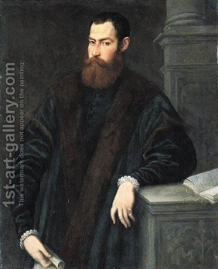 Portrait of a gentleman 2 by Jacopo Tintoretto (Robusti) - Reproduction Oil Painting