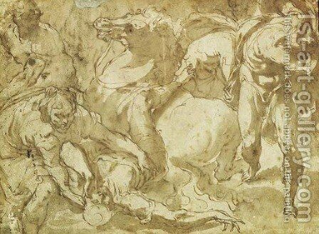 The Conversion Of Saint Paul by Jacopo Bertoia - Reproduction Oil Painting
