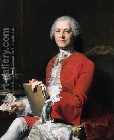 Portrait of M. Roques by Jacques-André-Joseph Aved - Reproduction Oil Painting