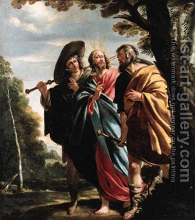 The road to Emmaus by Jacques de Letin - Reproduction Oil Painting