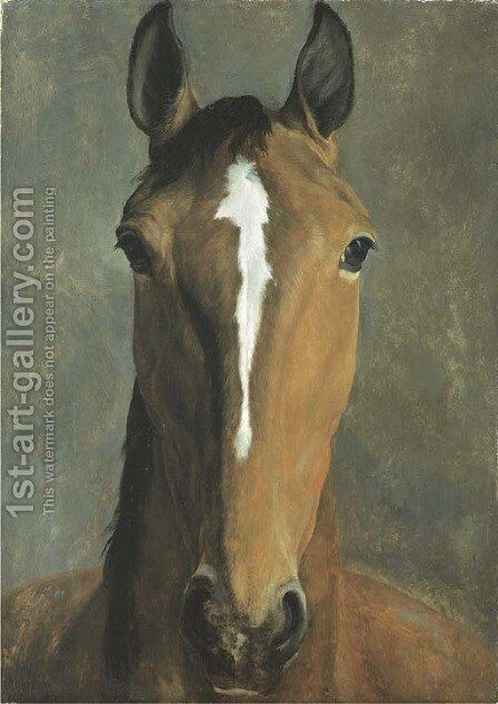 Head of a bay horse by Jacques Laurent Agasse - Reproduction Oil Painting