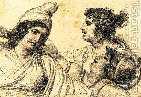 Paris with Juno and Minerva by Jacques Louis David - Reproduction Oil Painting