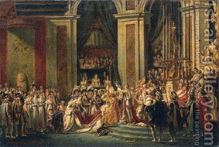 Napoleon crowning Josephine by Jacques-Nol-Marie Frmy - Reproduction Oil Painting
