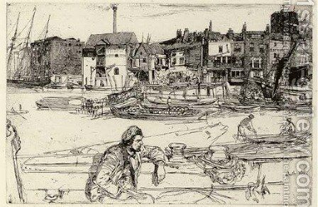 Black Lion Wharf 2 by James Abbott McNeill Whistler - Reproduction Oil Painting