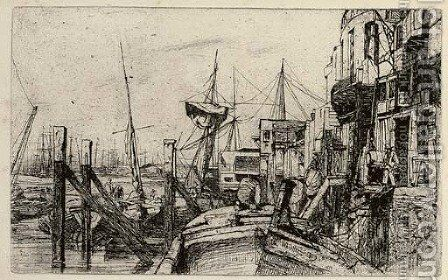 Limehouse by James Abbott McNeill Whistler - Reproduction Oil Painting