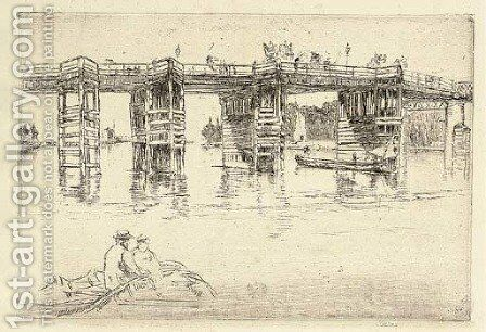 Old Putney Bridge by James Abbott McNeill Whistler - Reproduction Oil Painting