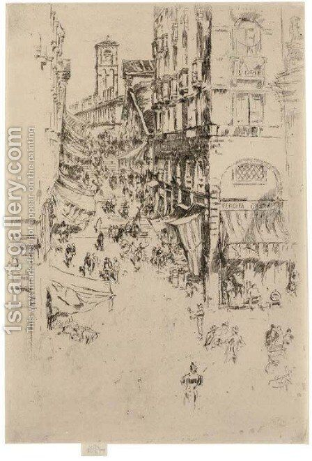 Rialto by James Abbott McNeill Whistler - Reproduction Oil Painting
