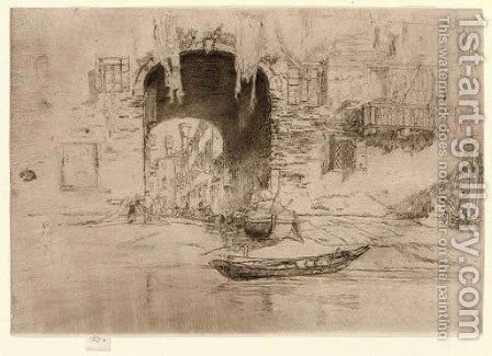 San Biagio, from Twenty Six Etchings by James Abbott McNeill Whistler - Reproduction Oil Painting