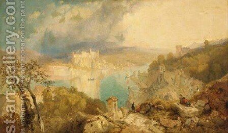 Lake Maggiore, Italy by James Baker Pyne - Reproduction Oil Painting