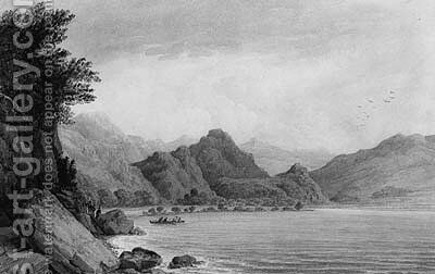 Derwent Water, Cumberland by James Baynes - Reproduction Oil Painting