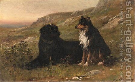 Canine Friends by James Brade Sword - Reproduction Oil Painting