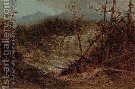 Stream in the Adirondacks by James David Smillie - Reproduction Oil Painting